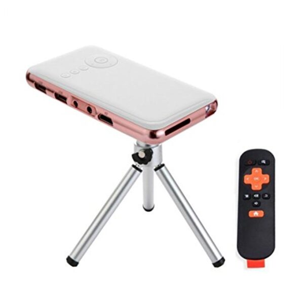 mini-Portable-Projector with tripod and remote